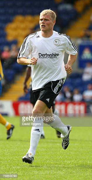 James McEveley of Derby County pictured during the pre season friendly match between Mansfield Town and Derby County at Field Mill on July 28, 2007...