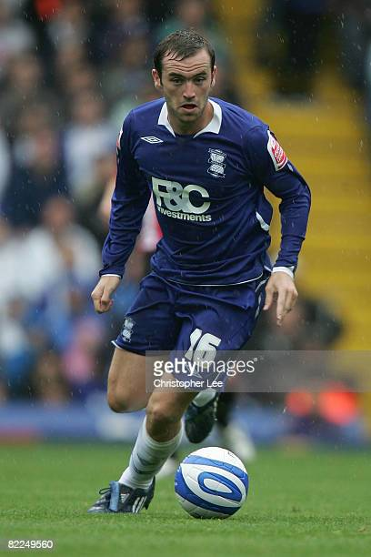 James McFadden of Birmingham City in action during the CocaCola Championship match between Birmingham City and Sheffield United at St Andrews on...