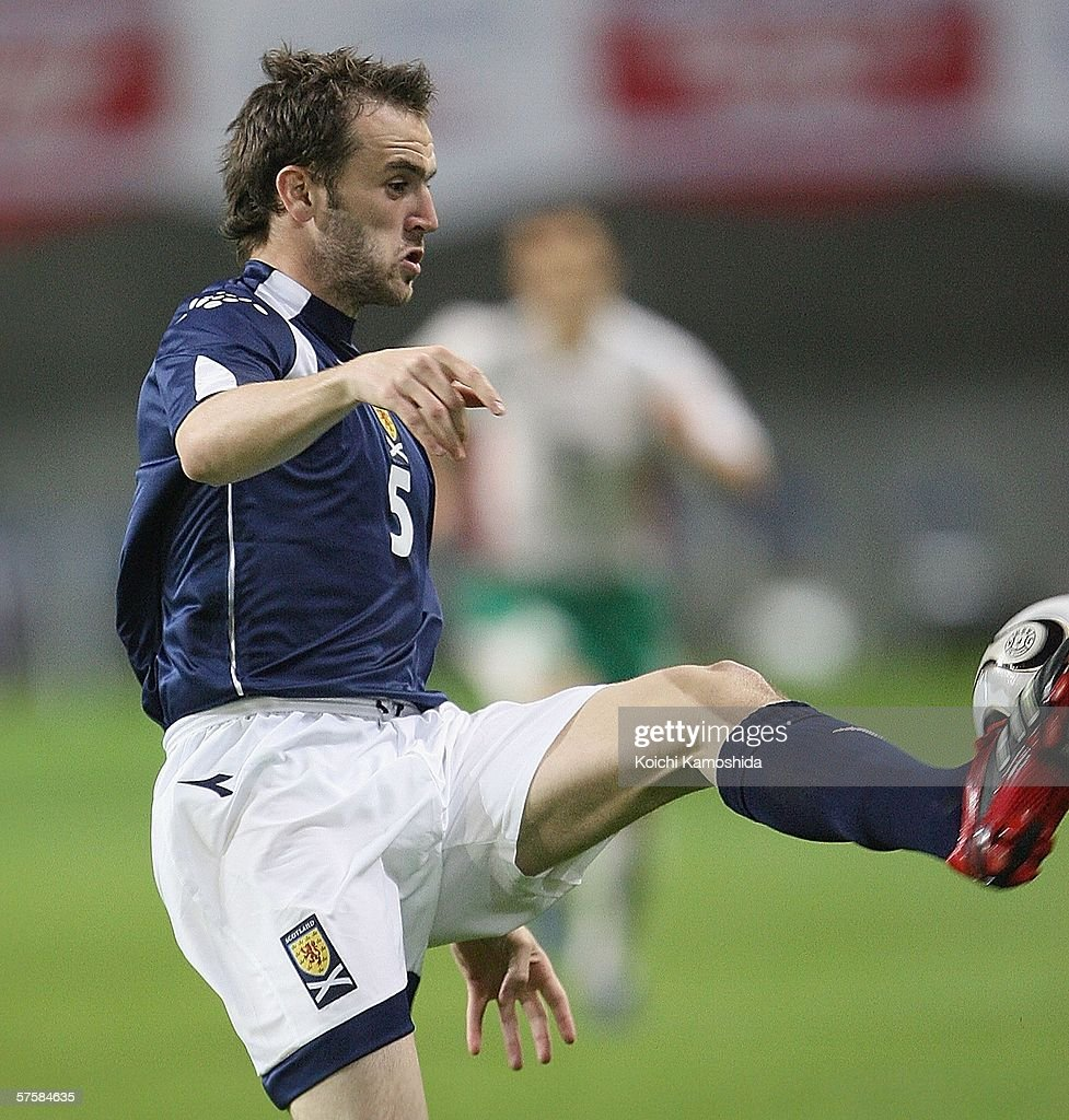 James Mcfadden of Scotland in action during the Kirin Cup Soccer 2006 between Scotland and Bulgaria, at the Kobe Wing Stadium on May 11, 2006 in Kobe, Japan.