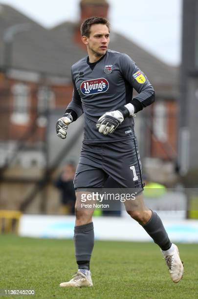 James McKeown of Grimsby Town in action during the Sky Bet League Two match between Grimsby Town and Northampton Town at Blundell Park on March 16,...