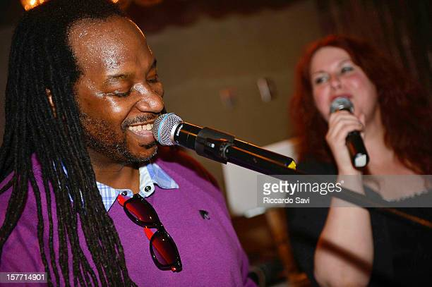 James McKinney and Janine Wilson perform at the Nominee Telecast and Holiday Party at The Society on December 5 2012 in Silver Spring Maryland