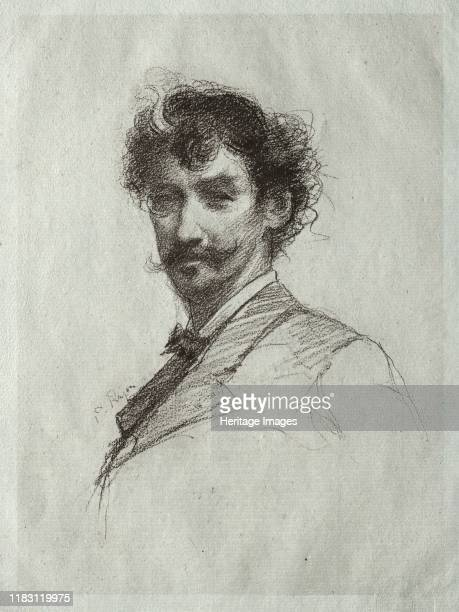 James McNeill Whistler with White Lock and Monocle. Creator William Brassey Hole .