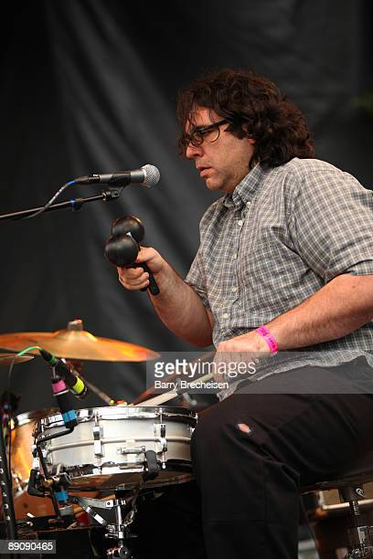 James McNew of Yo La Tengo performs during the 2009 Pitchfork Music Festival at Union Park on July 17 2009 in Chicago Illinois