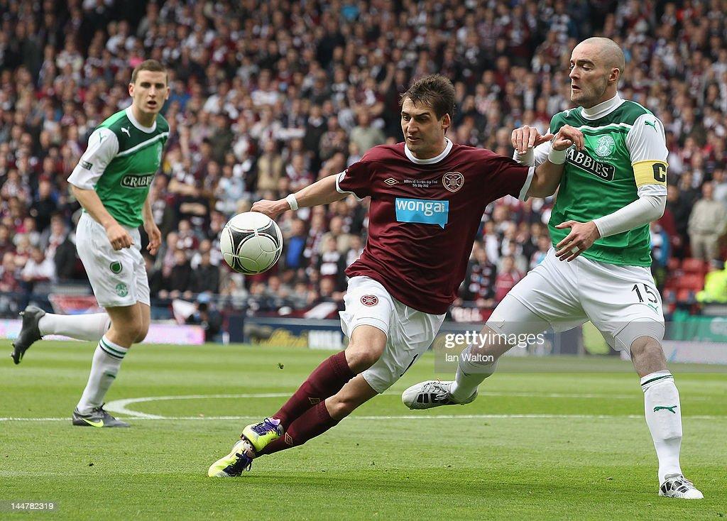 Hibernian v Hearts - Scottish Cup Final : News Photo