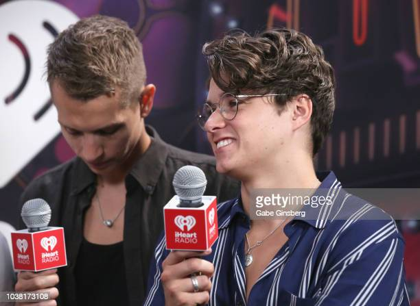 James McVey and Bradley Simpson of The Vamps attend the iHeartRadio Music Festival at TMobile Arena on September 22 2018 in Las Vegas Nevada
