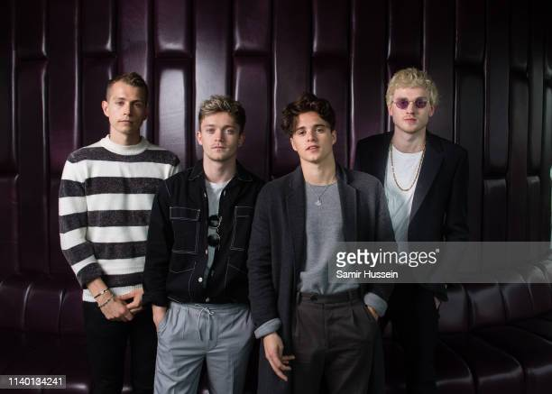 James McVey Connor Ball Bradley Simpson and Tristan Evans of The Vamps pose for a photocall to mark them becoming the first band to play at the O2...