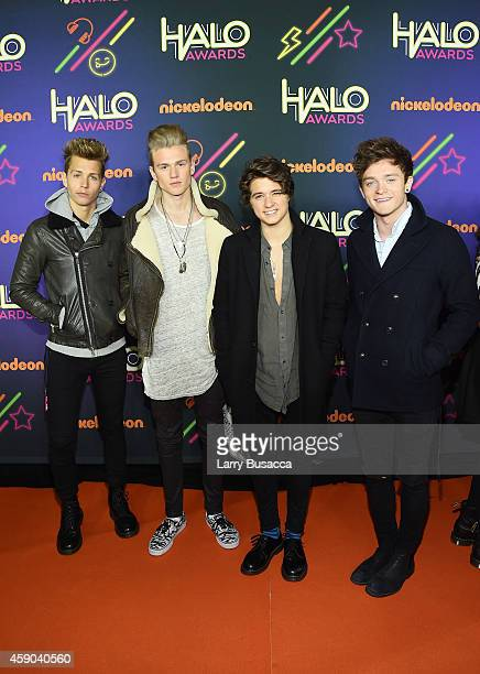 James McVey Tristan Evans Bradley Simpson and Connor Ball of the Vamps attends the Sixth Annual Nickelodeon HALO Awards in New York City The hourlong...