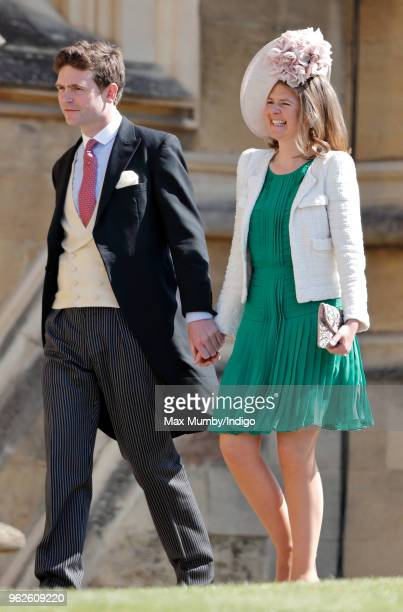 James Meade and Lady Laura Meade attend the wedding of Prince Harry to Ms Meghan Markle at St George's Chapel Windsor Castle on May 19 2018 in...