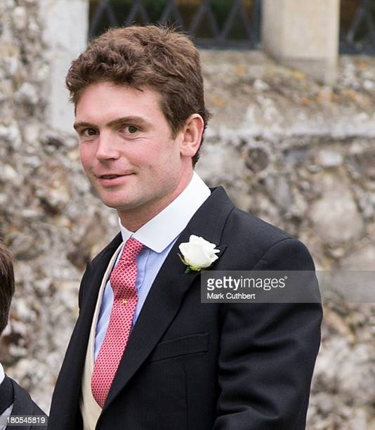 James Meade attends his wedding to Lady Laura Marsham at The Parish Church of St Nicholas in Gayton on September 14 2013 in King's Lynn England