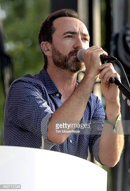 James Mercer of Broken Bells performs during the 2014 Bonnaroo Music Arts Festival on June 15 2014 in Manchester Tennessee
