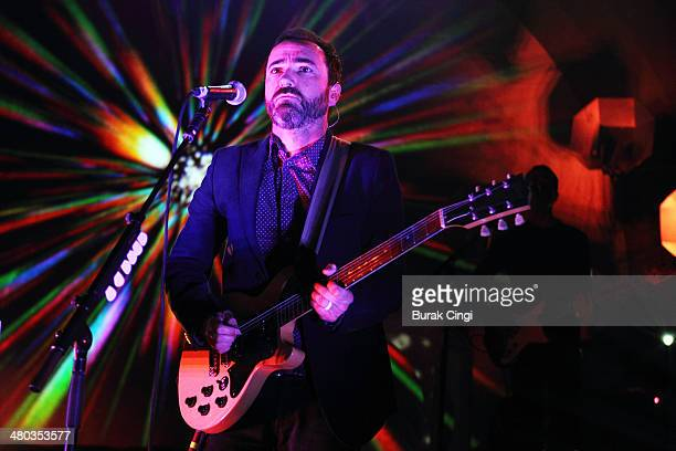 James Mercer of Broken Bells performs on stage at Shepherds Bush Empire on March 24 2014 in London United Kingdom