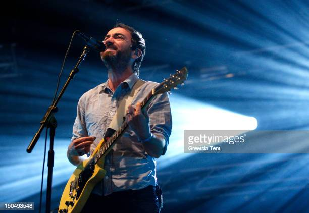 James Mercer of The Shins performs live at Lowlands Festival on August 19 2012 in Biddinghuizen Netherlands