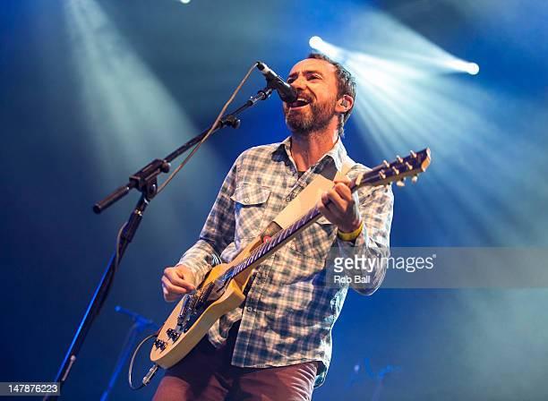 James Mercer of The Shins performs on day one of Roskilde Festival on July 5 2012 in Roskilde Denmark