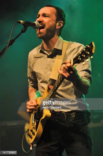 James Mercer of The Shins performs on stage at HMV Forum on March 22 2012 in London United Kingdom