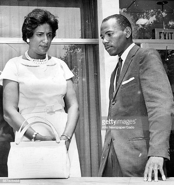 James Meredith Air Force veteran and his attorney Constance Baker Motley with the NAACP await decision on whether Meredith will gain right to...