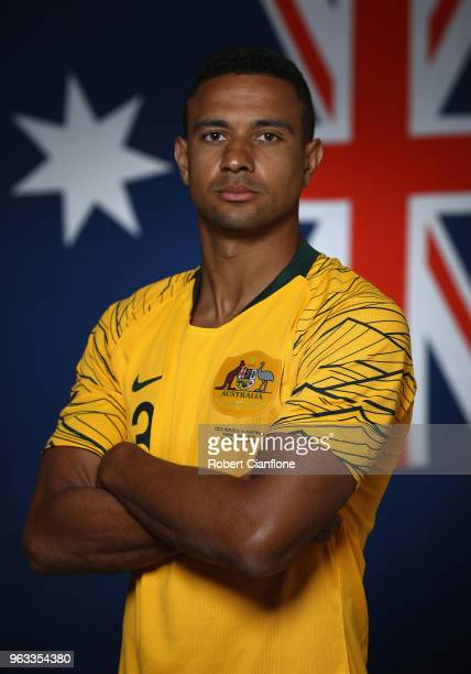 James Meredith of Australia poses during the Australian Socceroos Portrait Session at the Gloria Football Club on May 28 2018 in Antalya Turkey