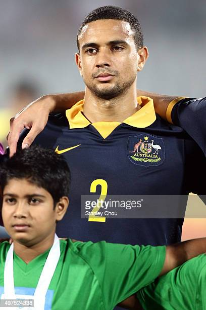 James Meredith of Australia Socceroos poses prior to kick off during the 2018 FIFA World Cup Qualification match between Bangladesh and the Australia...