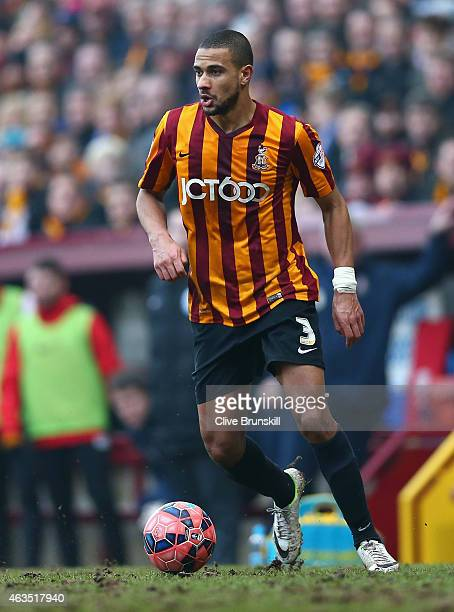 James Meredith of Bradford City in action during the FA Cup Fifth round match between Bradford City and Sunderland at Coral Windows Stadium Valley...