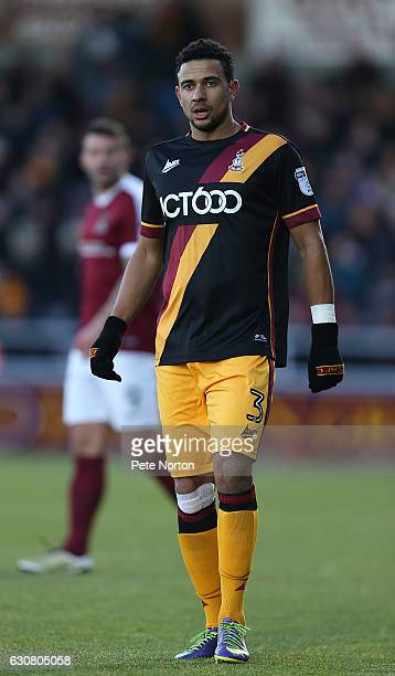 James Meredith of Bradford City in action during the Sky Bet League One match between Northampton Town and Bradford City at Sixfields on January 2...