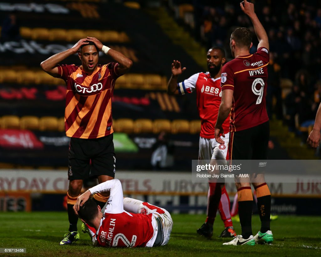 Bradford City v Fleetwood Town: Sky Bet League One Playoff Semi Final: First Leg
