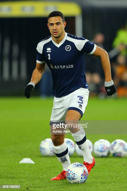 James Meredith of Millwall during the Sky Bet Championship match between Hull City and Millwall FC at KCOM Stadium on March 6 2018 in Hull England