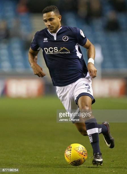 James Meredith of Millwall in action during the Sky Bet Championship match between Millwall and Hull City at The Den on November 21 2017 in London...