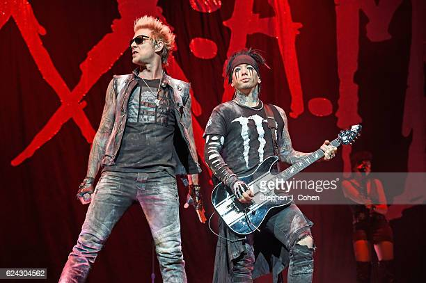 James Michael and DJ Ashba of SixxAM performs at KFC YUM Center on November 18 2016 in Louisville Kentucky