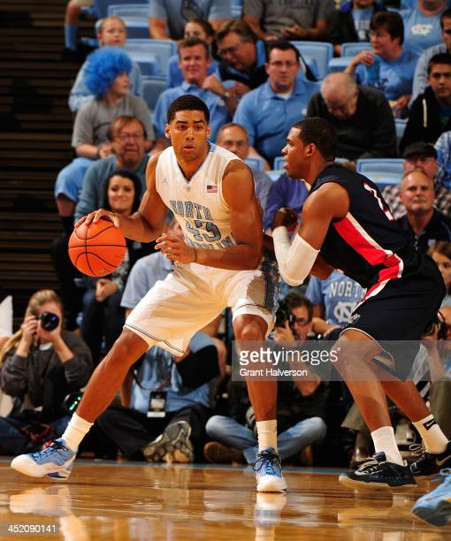 James Michael McAdoo of the North Carolina Tar Heels against the Belmont Bruins during play at the Dean Smith Center on November 17 2013 in Chapel...