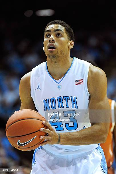 James Michael McAdoo of the North Carolina Tar Heels against the Texas Longhorns during their game at the Dean Smith Center on December 18 2013 in...