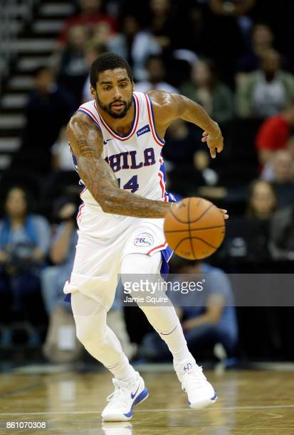 James Michael McAdoo of the Philadelphia 76ers in action during the game against the Miami Heat at Sprint Center on October 13 2017 in Kansas City...