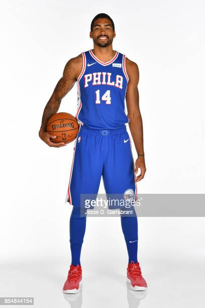James Michael McAdoo of the Philadelphia 76ers poses for a portrait during 201718 NBA Media Day on September 25 2017 at Wells Fargo Center in...