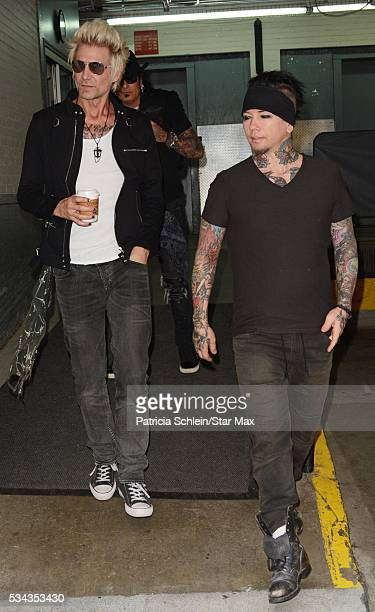 James Michael Nikki Sixx and DJ Ashba of SixxAM are seen on May 25 2016 in New York City