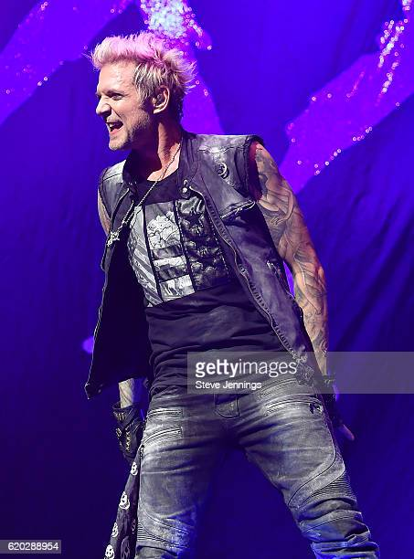 James Michael of Sixx AM performs on Halloween night at SAP Center on October 31 2016 in San Jose California