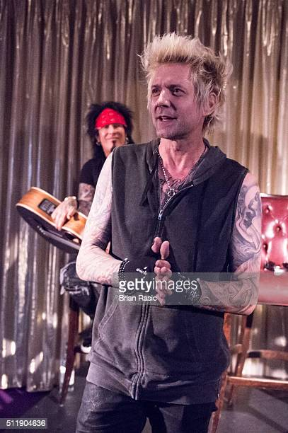 James Michael of SixxAM performs at Sanctum Soho on February 23 2016 in London England