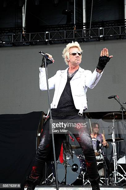 James Michael performs in concert with SixxAM during the River City Rock Fest at the ATT Center on May 26 2016 in San Antonio Texas