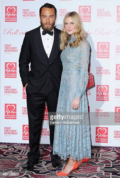 James Middleton and Donna Air attend the British Heart Foundation's Roll Out The Red Ball at Park Lane Hotel on February 10, 2015 in London, England.