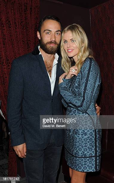 James Middleton and Donna Air attend the launch of Ruski's Tavern on September 24 2013 in London England