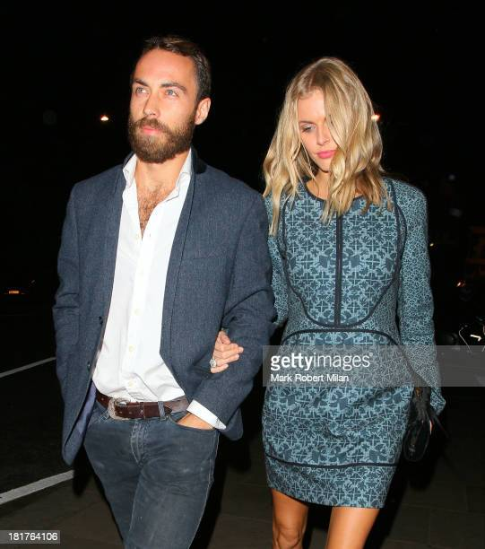 James Middleton and Donna Air attend the Ruski's Caviar and vodka Tavern grand launch on September 24 2013 in London England