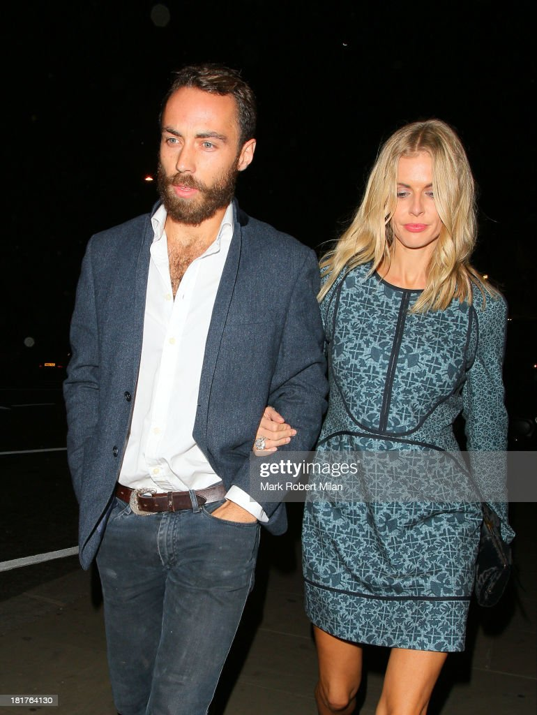 James Middleton and Donna Air attend the Ruski's Caviar and vodka Tavern grand launch on September 24, 2013 in London, England.