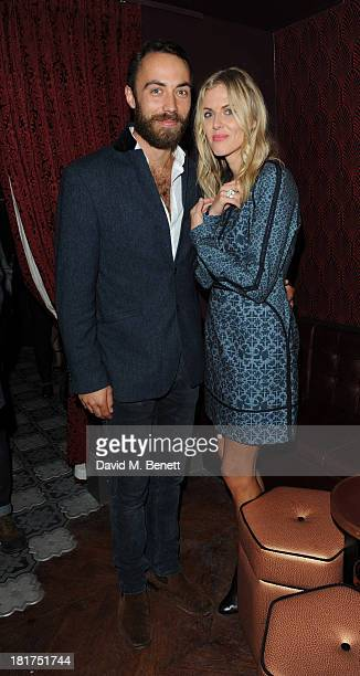 James Middleton and Donna Air attends the launch of Ruski's Tavern on September 24 2013 in London England