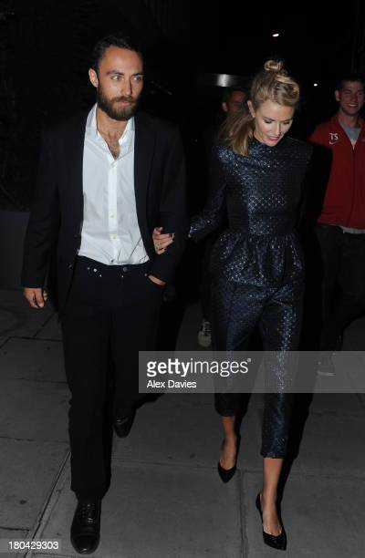 James Middleton and Donnah Air sighting leaving the Elle party awards ahead of London Fashion Week on September 12 2013 in London England