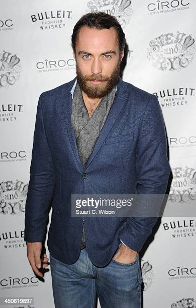 James Middleton arrives for the 'Steam and Rye' Restaurant launch party on November 19 2013 in London England