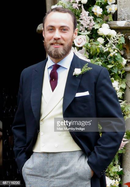 James Middleton attends the wedding of Pippa Middleton and James Matthews at St Mark's Church on May 20, 2017 in Englefield Green, England.