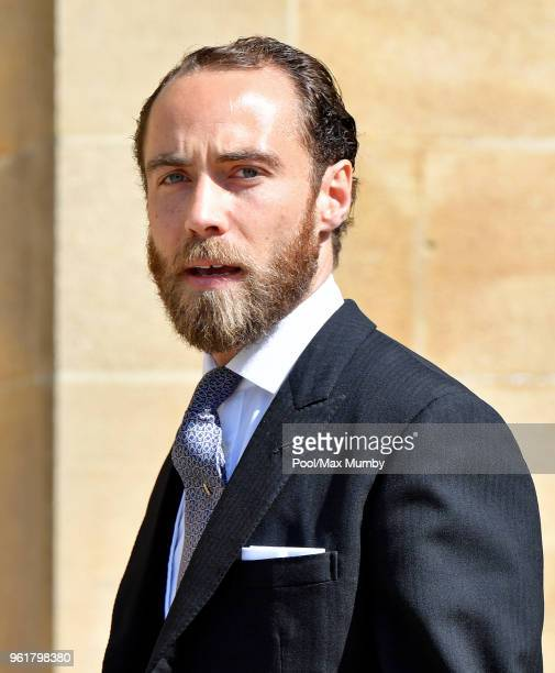 James Middleton attends the wedding of Prince Harry to Ms Meghan Markle at St George's Chapel, Windsor Castle on May 19, 2018 in Windsor, England....