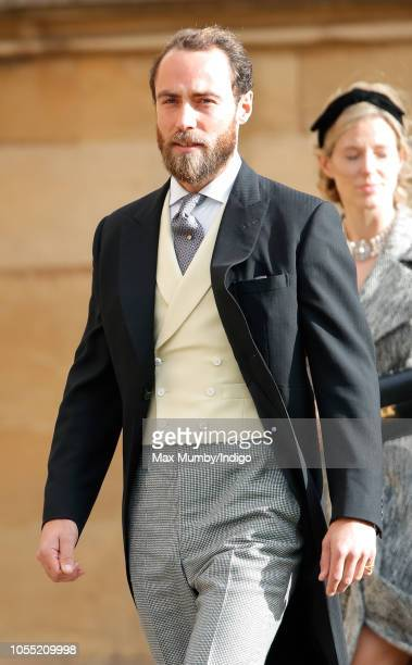 James Middleton attends the wedding of Princess Eugenie of York and Jack Brooksbank at St George's Chapel on October 12, 2018 in Windsor, England.