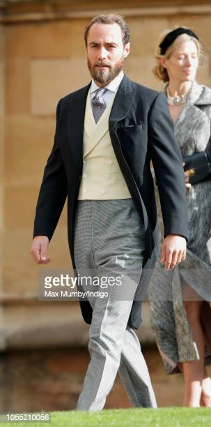 James Middleton attends the wedding of Princess Eugenie of York and Jack Brooksbank at St George's Chapel on October 12 2018 in Windsor England