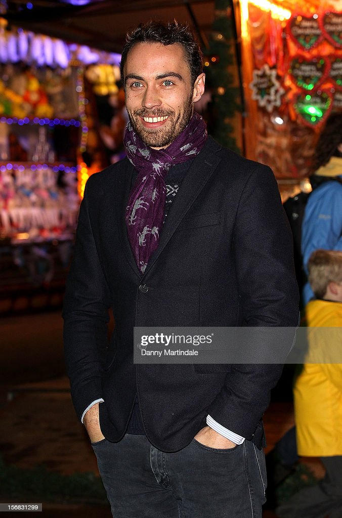 James Middleton attends the Winter Wonderland launch party at Hyde Park on November 22, 2012 in London, England.