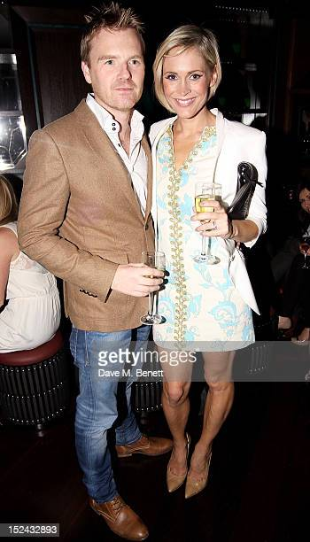 James Midgley and Jenni Falconer attend as Raffles hosts 'The Autumn Party' featuring Noisettes on September 20 2012 in London England