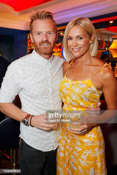 James Midgley and Jenni Falconer attend Casamigos Tequila's Away for August private dinner at Bagatelle on July 31 2018 in London United Kingdom