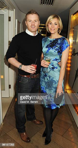 James Midgley and Jenni Falconer attend Marie Claire's Inspire Mentor Campaign party at The Loft at the Ivy Club on March 30 2010 in London England